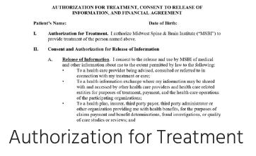 Authorization for Treatment